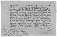 Oath of Allegiance : Marquis De Lafayette, Major General, June 9, 1778