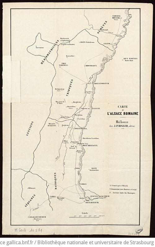 Carte Lalsace.Carte De L Alsace Romaine Gallica