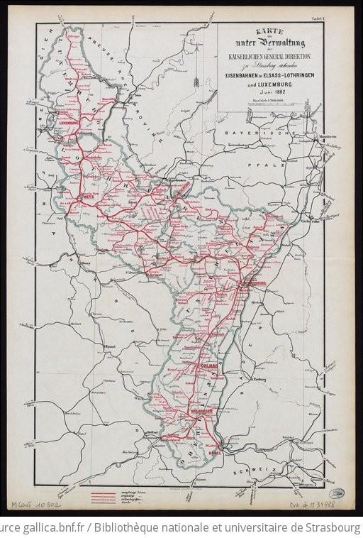 Lothringen Karte.Karte Der Unter Verwaltung Der Kaiserlichen General