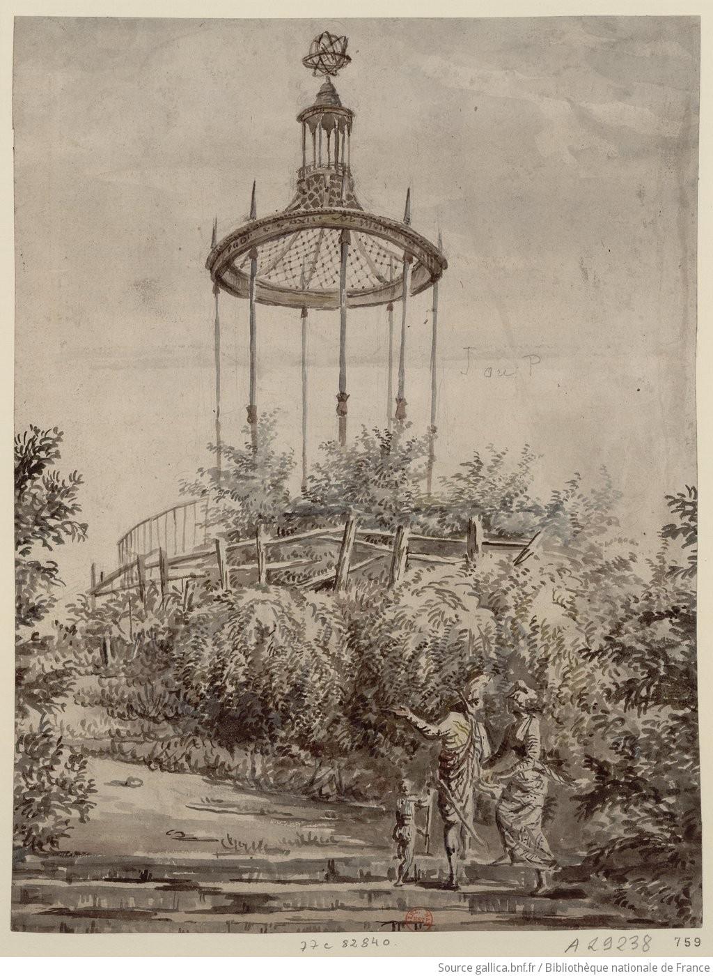 Labyrinthe du Jardin des Plantes. Belvédère] : [dessin]   Gallica