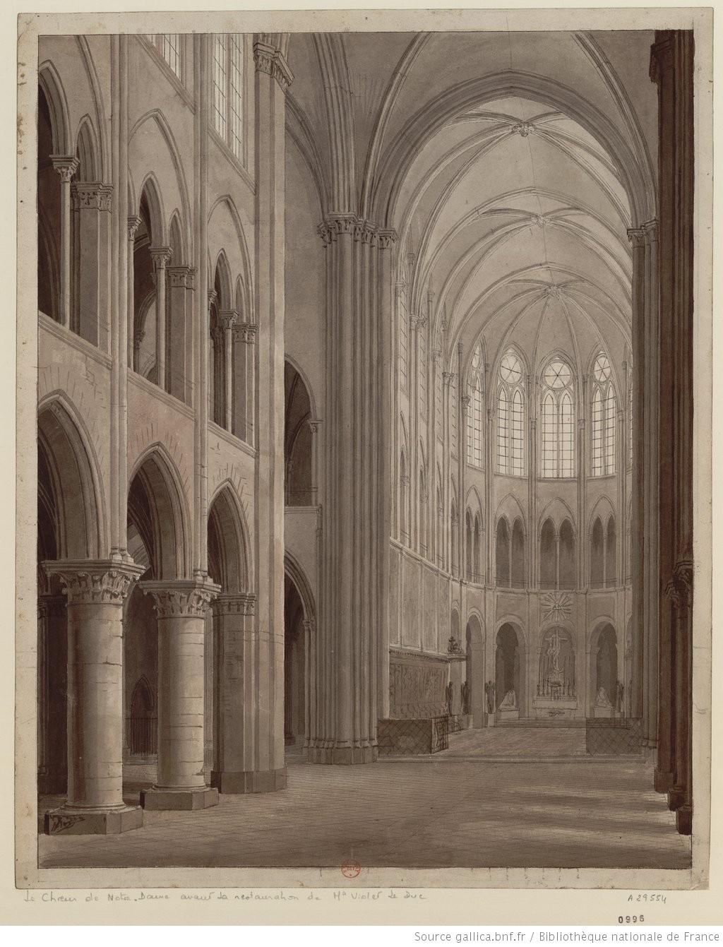 Le Choeur De Notre Dame Avant La Restauration De M Viollet Le Duc