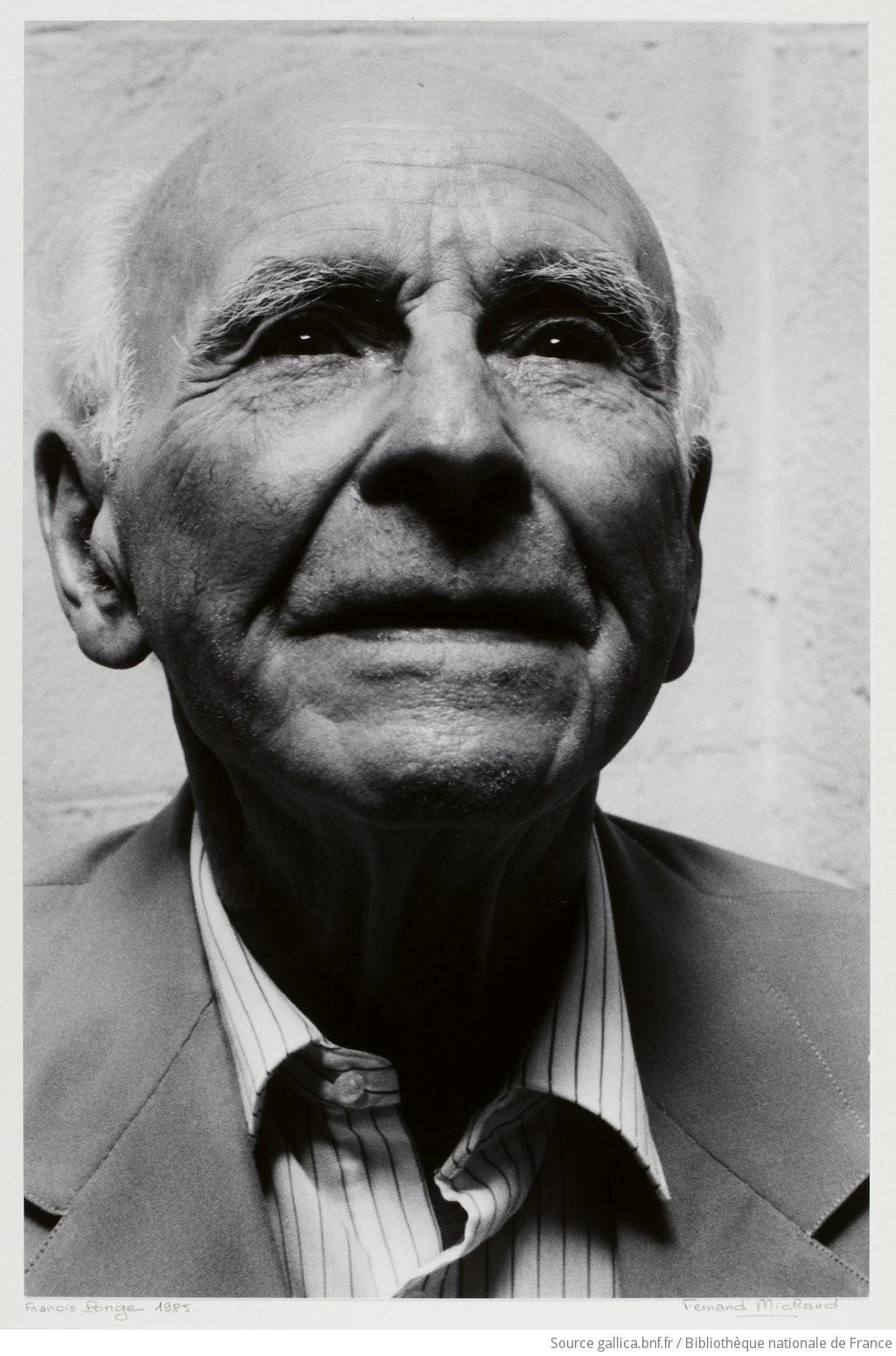 [Francis Ponge / portrait de Fernand Michaud]