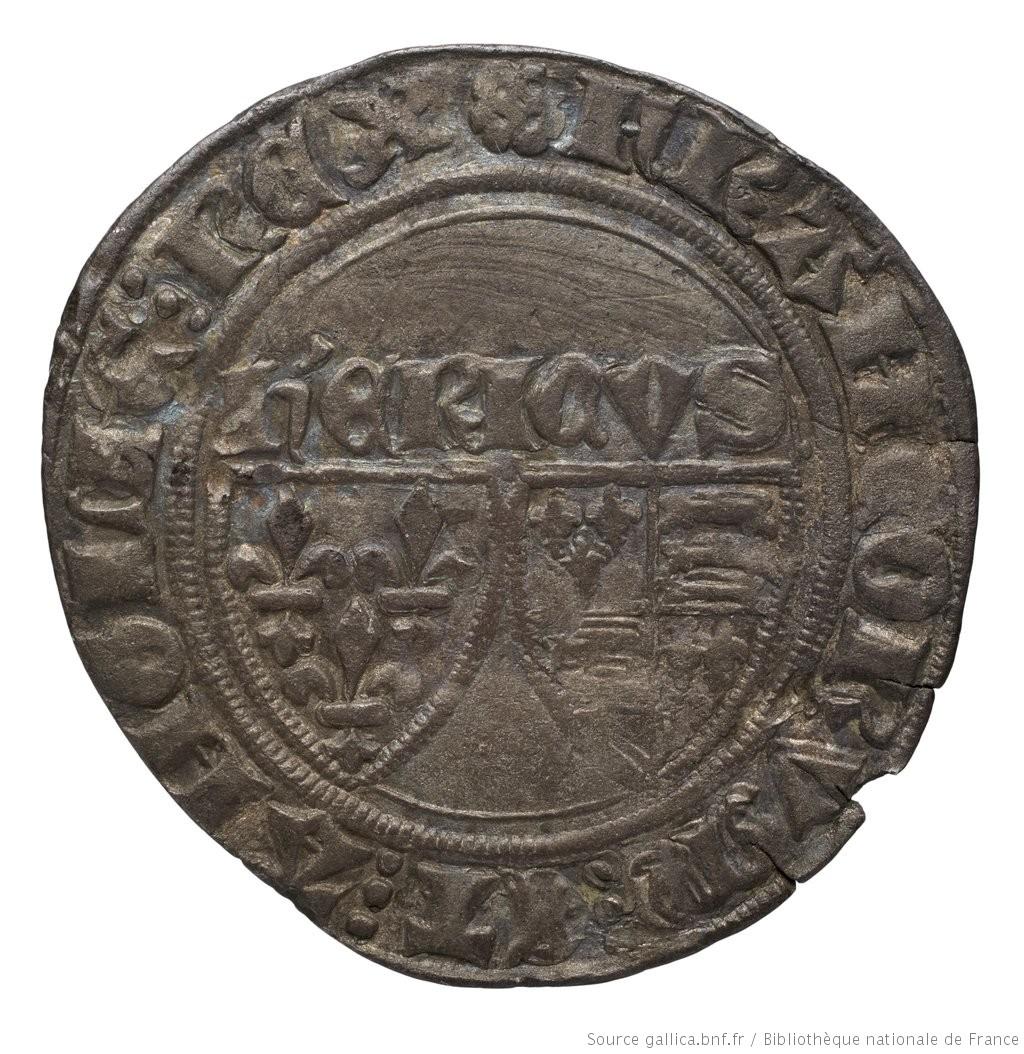 [Monnaie. Blanc, Auxerre, Henri VI] |