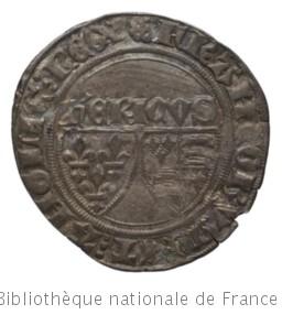 [Monnaie. Blanc, Auxerre, Henri VI] | Henri VI. Autorité émettrice de monnaie