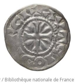 [Monnaie. Denier, Auxerre, Richard le Justicier]   Richard le Justicier. Autorité émettrice de monnaie