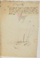 Papiers et correspondance de Pompone Ier de Bellièvre. (1566-4607). XIV Lettres adressées pour la plupart à Bellièvre, principalement pendant les années 1574 et 1575, et relatives notamment aux affaires de Suisse et de Pologne et aux finances ; en outre,