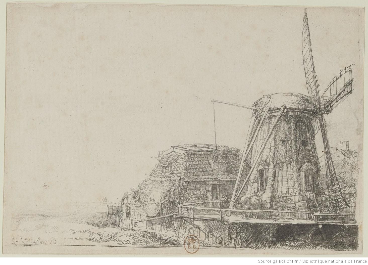 Le moulin] : [estampe] / Rembrandt f. 1641 [sig.] | Gallica