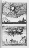Fig.XXI : Phénomène obbservé lors du passage de la comète de l'an 89 avant J.C .Fig.XXII : Phénomène obbservé lors du passage de la comète de l'an 61 avant J.C. [Cote :2499A]
