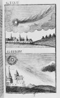 Fig.XXXIII : Phénomène obbservé lors du passage de la comète de l'an 341. Fig.XXXIV : Phénomène obbservé lors du passage de la comète de l'an 377. [Cote :2505A]