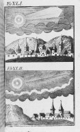 Fig.XLI : Phénomène obbservé lors du passage de la comète de l'an 488. Fig.XLII : Phénomène obbservé lors du passage de la comète de l'an 539. [Cote :2509A]