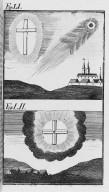 Fig.LI : Phénomène observé lors du passage de la comète de l'an 1043 . Fig.LII Phénomène observé lors du passage de la comète de l'an 1066 . [Cote :2514A]