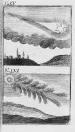 Fig.LV : Phénomène observé lors du passage de la comète de l'an 1265 . Fig.LVI : Phénomène observé lors du passage de la comète de l'an 1264 . [Cote :2516A]