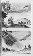 Fig.III : Phénomène obbservé lors du passage de la comète de l'an 648 avant J.C . Fig.IV : Phénomène obbservé lors du passage de la comète de l'an 580 avant J.C. [Cote :2490A]