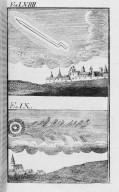 Fig.LVIX : Phénomène observé lors du passage de la comète de l'an 1391 . Fig.LX : Phénomène observé lors du passage de la comète de l'an 1400 . [Cote :2518A]