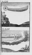 Fig.LXI : Phénomène observé lors du passage de la comète de l'an 1439 . Fig.LXII : Phénomène observé lors du passage de la comète de l'an 1488 . [Cote :2519A]
