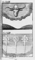 Fig.LXIII : Phénomène observé lors du passage de la comète de l'an 1499 . Fig.LXIV : Phénomène observé lors du passage de la comète de l'an 1514 . [Cote :2520A]