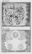 Fig.LXIX : Phénomène observé lors du passage de la comète de l'an 1527 . Fig.LXX : Phénomène observé lors du passage de la comète de l'an 1528 . [Cote :2523A]