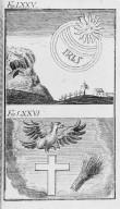 Fig.LXXV : Phénomène observé lors du passage de la comète de l'an 1543 . Fig.LXXVI : Phénomène observé en l'an 1547 . [Cote :2526A]