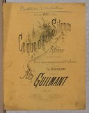 Image from Gallica about Ce que dit le silence. Ténor ou soprano, orchestre. Sol majeur