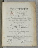 Image from Gallica about Concertos. Violon, orchestre. Sol majeur. No 23. W I 23