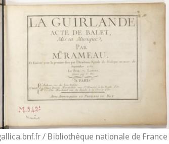 LA GUIRLANDE - Première édition (1751)