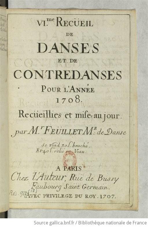 II Recueil de Nouvelles Contredances