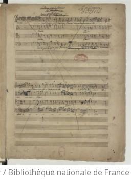 LA NAISSANCE D'OSIRIS - Manuscrit autographe (1754 ?)