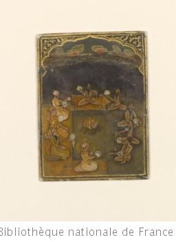 [Ganjifa mogholes de forme rectangulaire, style de Mihr Chand] : [jeu de cartes, peinture]
