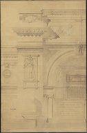 Ensemble de plans pour le Musée égyptien du Caire  M.-L. Dourgnon. 1895-1897