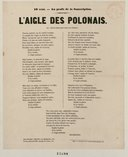 L'Aigle des Polonais. Air : liberté sainte après trente ans d'absence  Rochefort. XIXeme s.