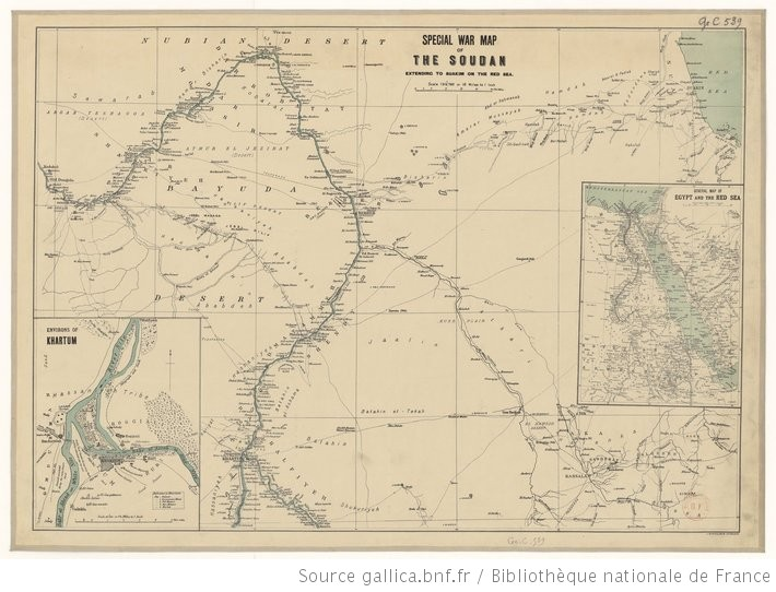 Large Scale Map Of France.Philip S War Map Of The Soudan 1885 Dislocating The Orient