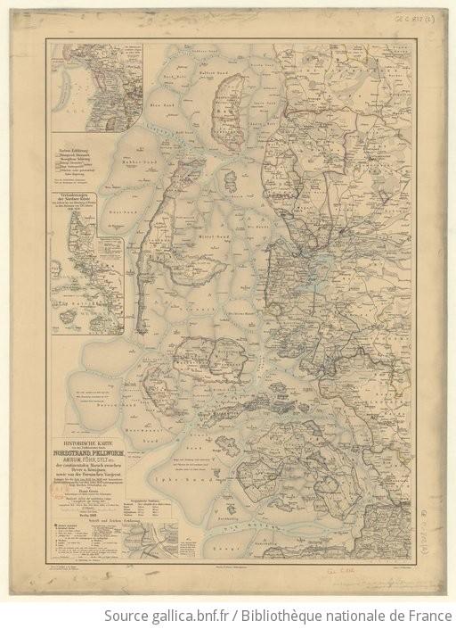 Nordfriesische Inseln Karte.Historische Karte Von Den Nordfriesischen Inseln Nordstrand