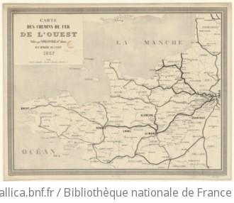 Carte des chemins de fer de l