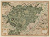 Carte topographique de la Forest de Compiègne et ses Environs  H. Matis. 1729
