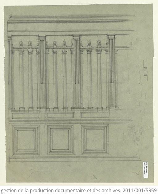 Plans du quart nord-est du Quadrilatère Richelieu : bâtiment ...