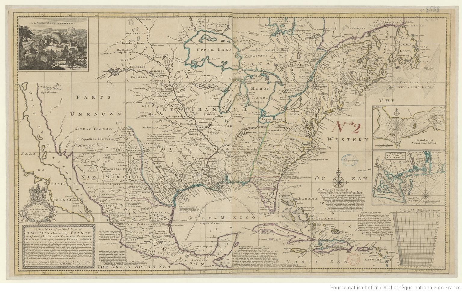 Map Of France England And Spain.A New Map Of The North Parts Of America Claimed By France Under Y