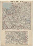 Carte de la Pologne ; Hongrie. Région des Carpathes  1916