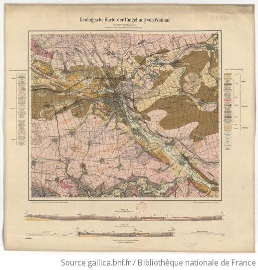 Karte Weimar Und Umgebung.Geologische Karte Der Umgebung Von Weimar Bearbeitet Von P