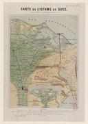 Cartes de l'isthme de Suez  A. Buquet. 1861-1867