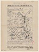 Compagnie universelle du canal maritime de Suez : carte de l'isthme de Suez indiquant les lignes régulières de paquebots en correspondance avec le service de transit établi sur les canaux de la compagnie  A. Buguet. 1867