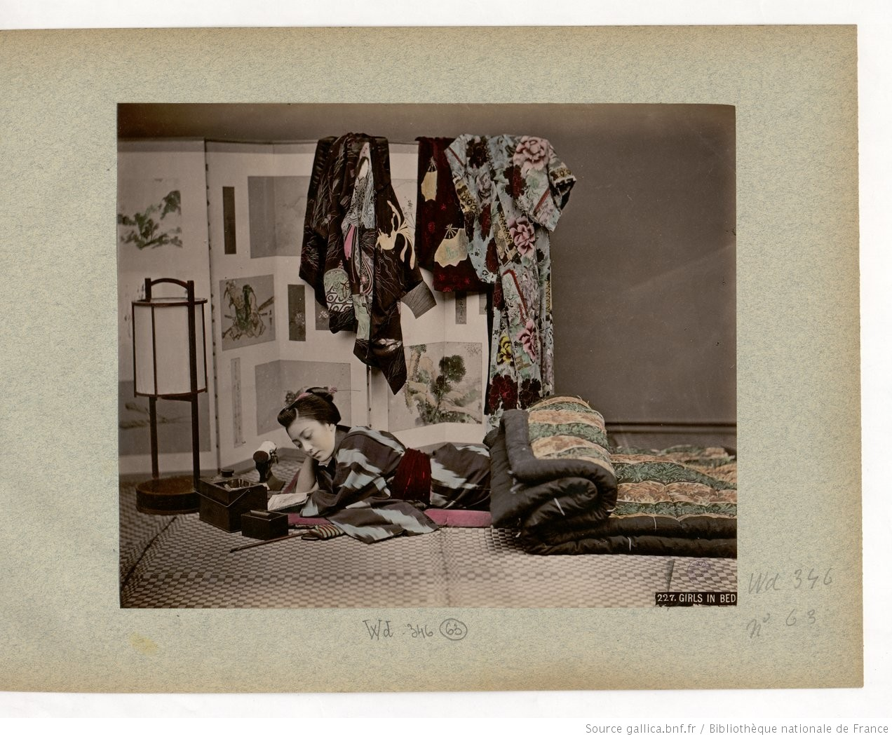 Fig. 63. 227. Girls[sic] in bed;