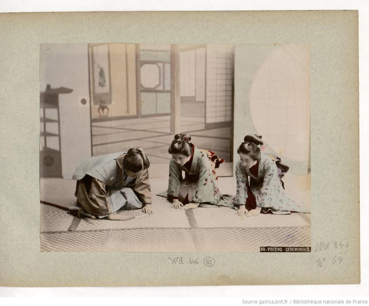 Fig. 69. 80. Visiting ceremonials[sic] / Kinbei Kusakabe;