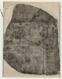 Estampage de la pierre de Rosette  1799