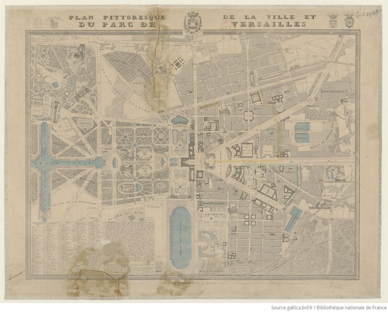 Plan pittoresque de la ville et du parc de Versailles