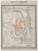 Plan von Jerusalem nach den Untersuchungen  Dr. E. G. Schultz. 1845