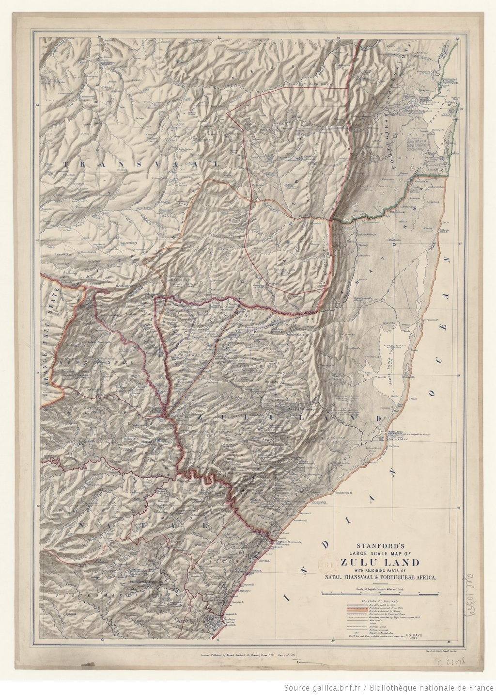 Large Scale Map Of France.Stanford S Large Scale Map Of Zululand With Adjoining Parts Of Natal