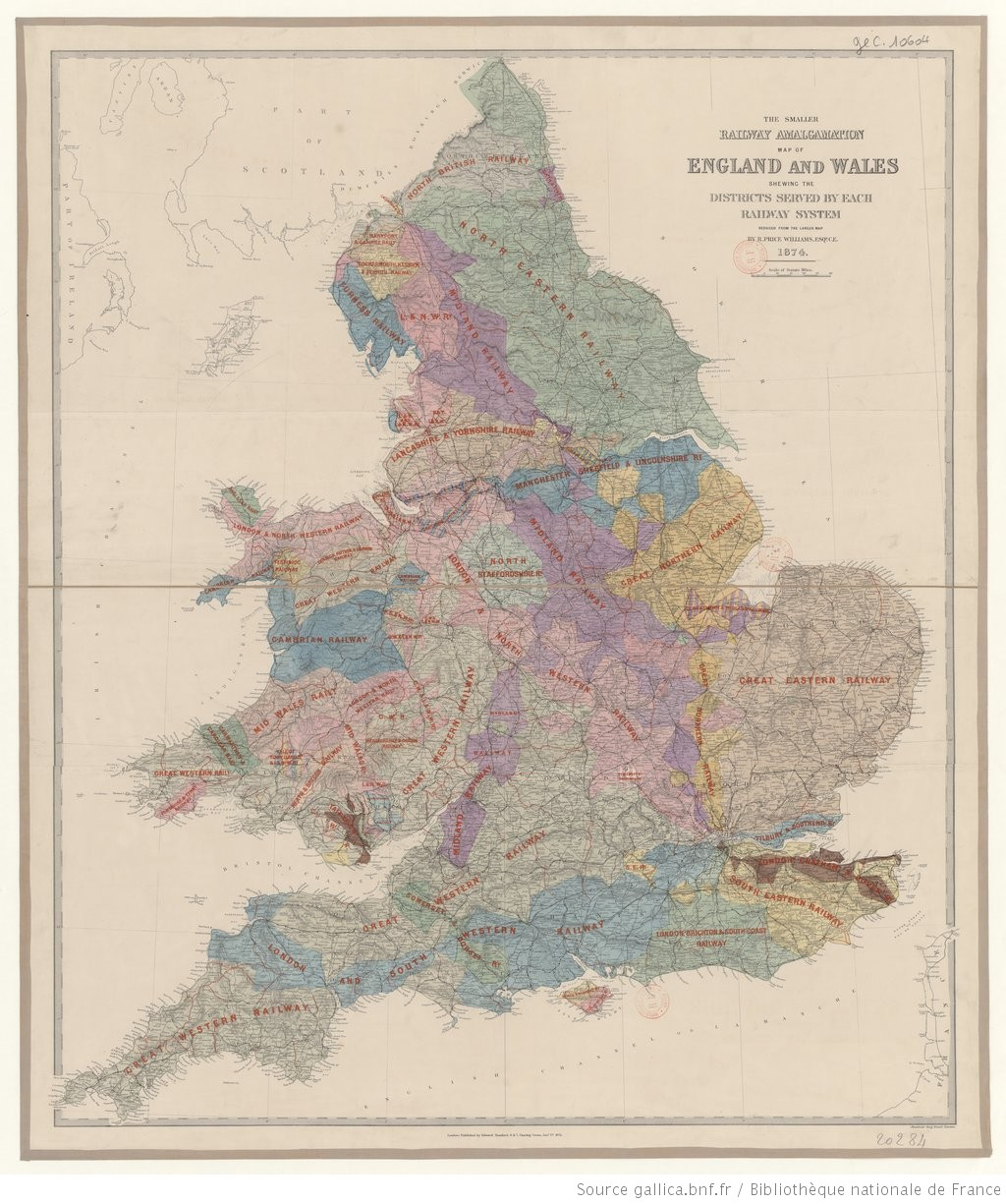 Map Of England Districts.The Smaller Railway Amalgamation Map Of England And Wales Shewing