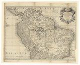 Carte de la Terre Ferme, du Perou, du Bresil et du Pays des amazones  G. Delisle. 1716