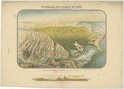 Panorama del canale di Suez  1884