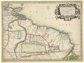 Partie de Terre Ferme ou sont Guiane et Caribane  N. Sanson. 1656